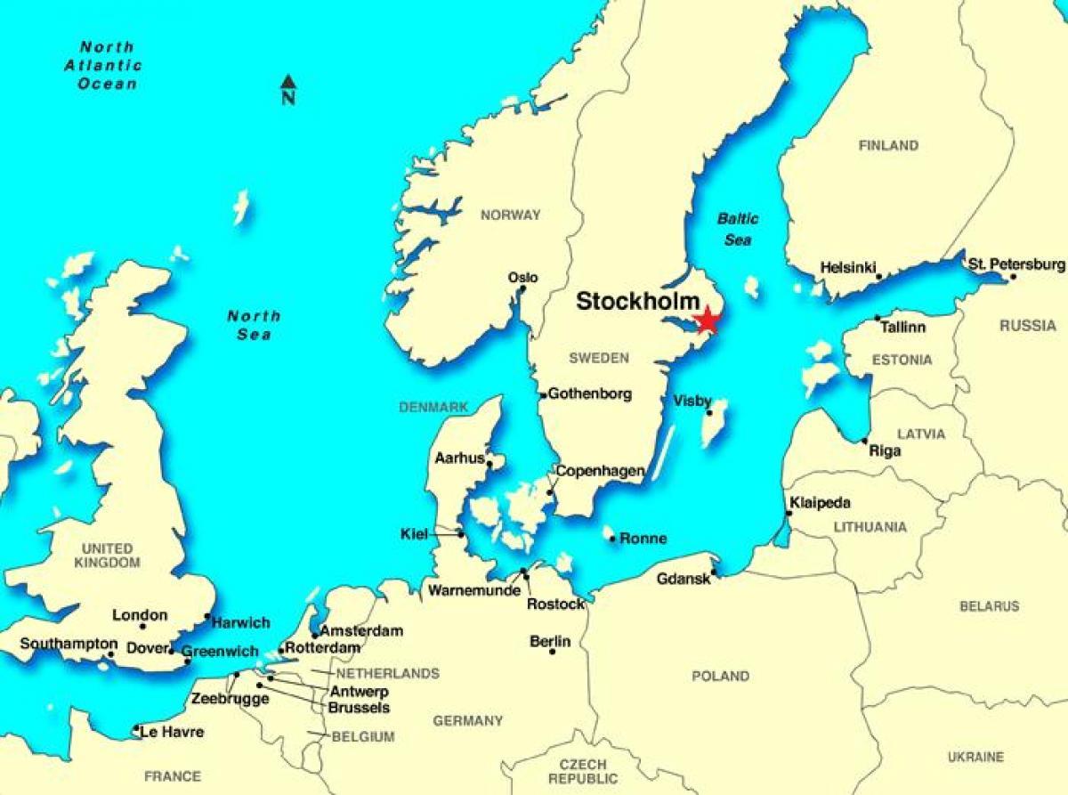 Estocolmo Suecia Mapa De Estocolmo Mapa De Europa Sodermanland